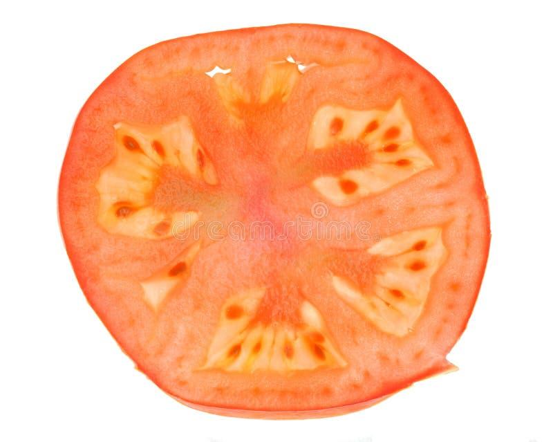 De plak van de tomaat stock foto's