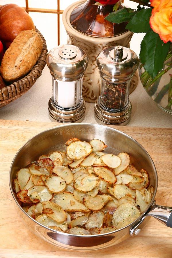 De Plakken van de aardappel royalty-vrije stock afbeelding