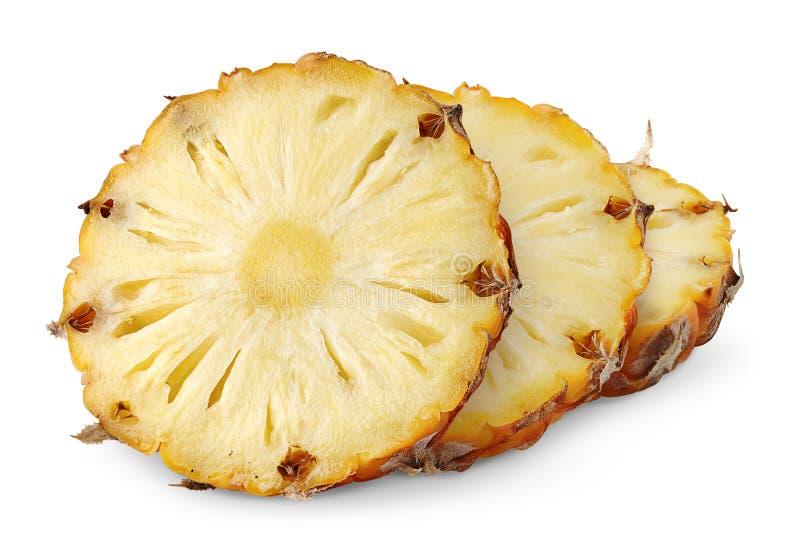 De plakken van de ananas stock foto