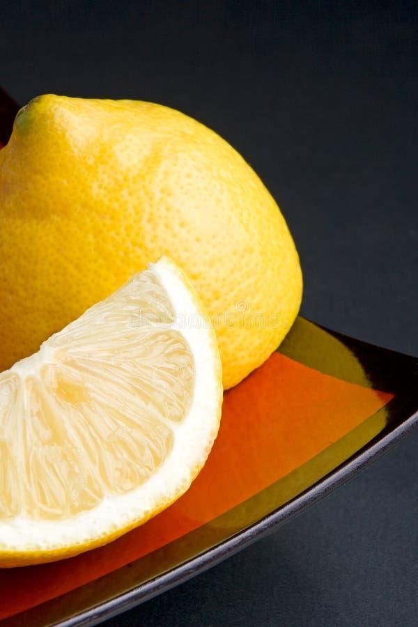 De plakken van de citroen stock afbeeldingen