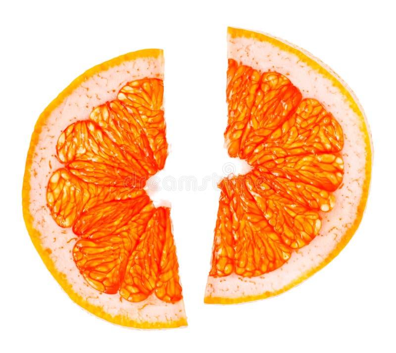 De Plakken van de citrusvrucht stock foto
