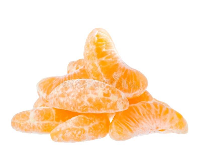De plakken van de mandarijn stock afbeeldingen