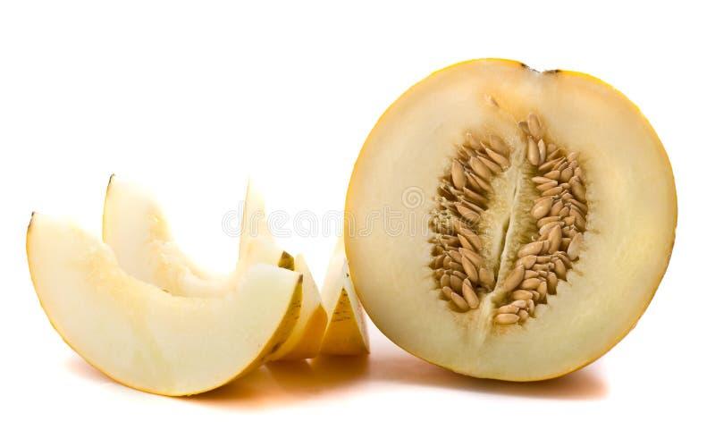 De plakken van de meloen stock afbeeldingen