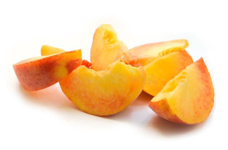 De plakken van de perzik stock fotografie