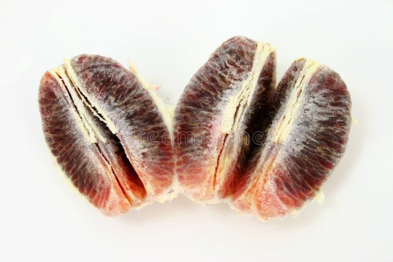 De Plakken Van De Sinaasappel Van Het Bloed Stock Afbeelding