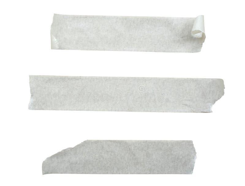 De plakken van de Witboekband op wit worden geïsoleerd (clippng weg die) royalty-vrije stock afbeeldingen