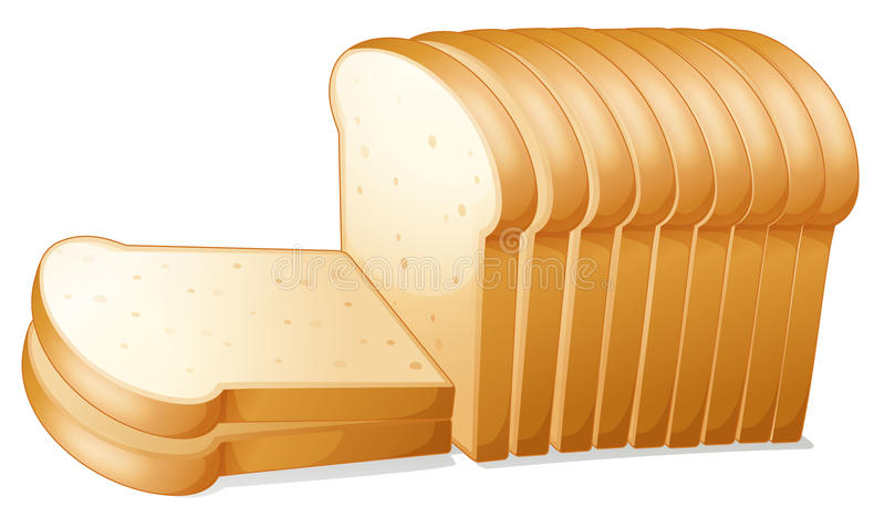 De plakken van het brood vector illustratie