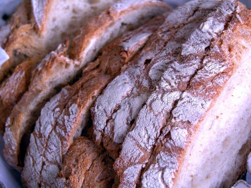 De plakken van het brood stock foto's