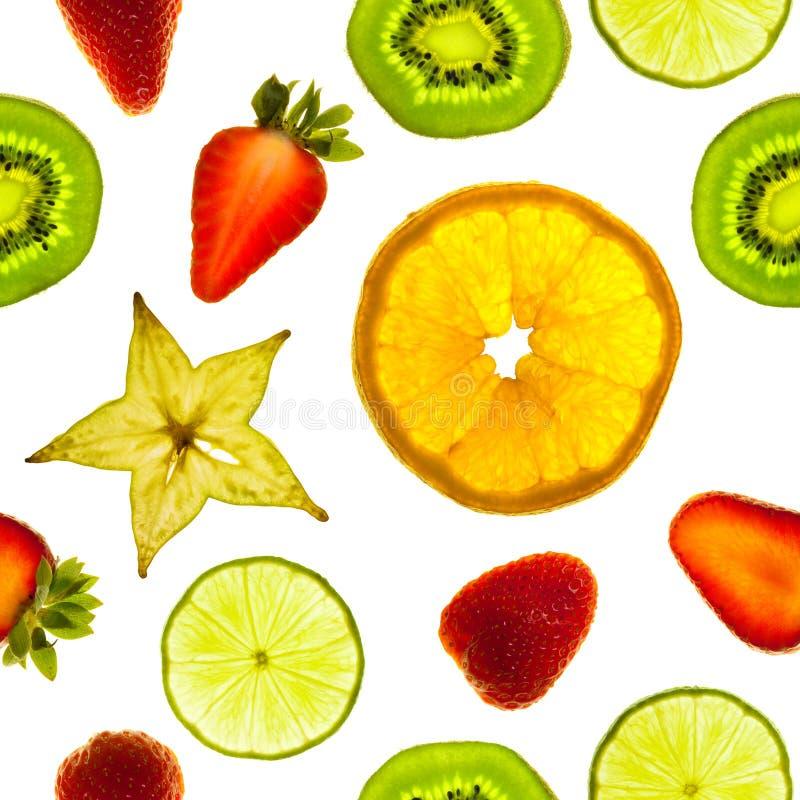 De plakken van het fruit stock afbeeldingen