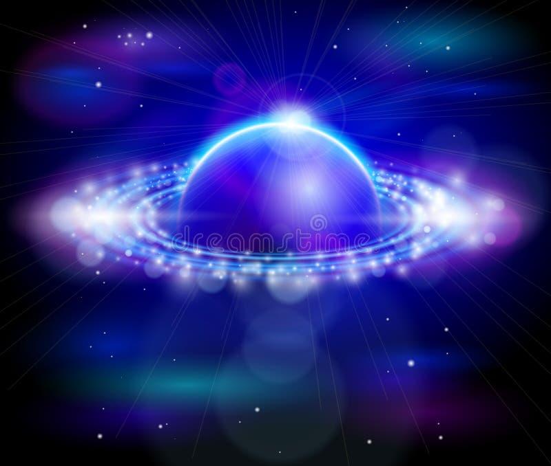 De planeet & de sterren van Saturnus royalty-vrije illustratie