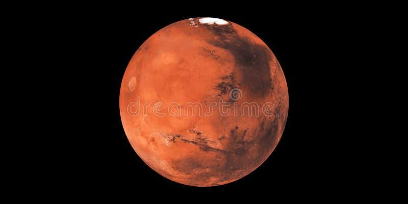 De planeet rode planeet van Mars in ruimte stock foto's