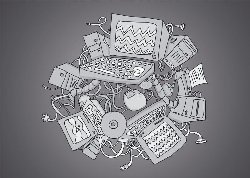 De planeet van de computer royalty-vrije illustratie