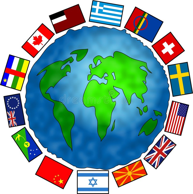 De Planeet van de vlag stock illustratie