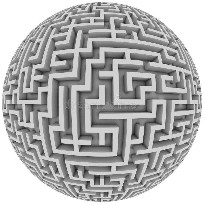 De planeet van het labyrint royalty-vrije illustratie