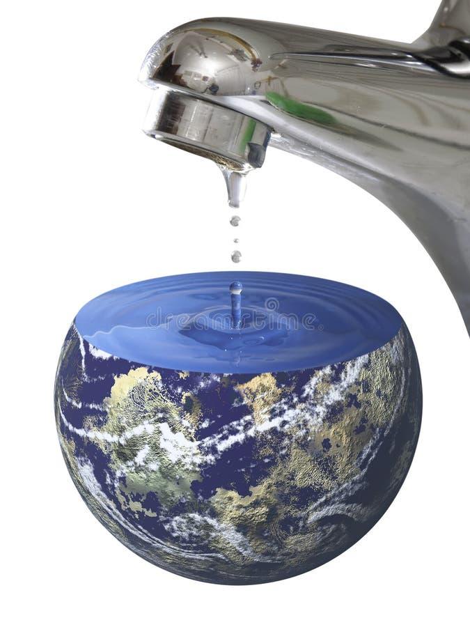 De Planeet van het water stock foto