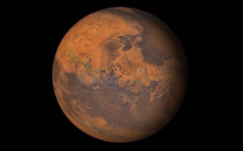 De Planeet van Mars, Elementen van dit die beeld door NASA wordt geleverd royalty-vrije illustratie