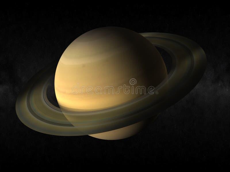 De planeet van Saturnus vector illustratie