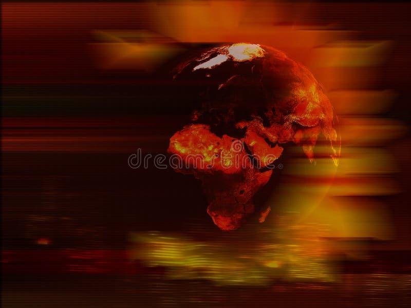 De planeetachtergrond van de aarde vector illustratie