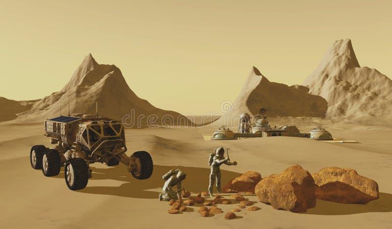 De Planeetontdekkingsreizigers van Mars vector illustratie