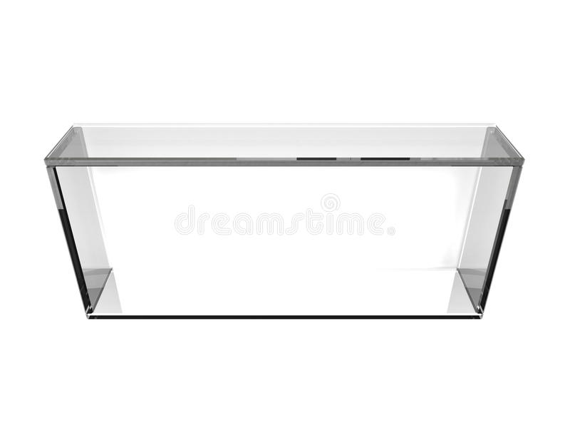 De plank van het glas stock illustratie