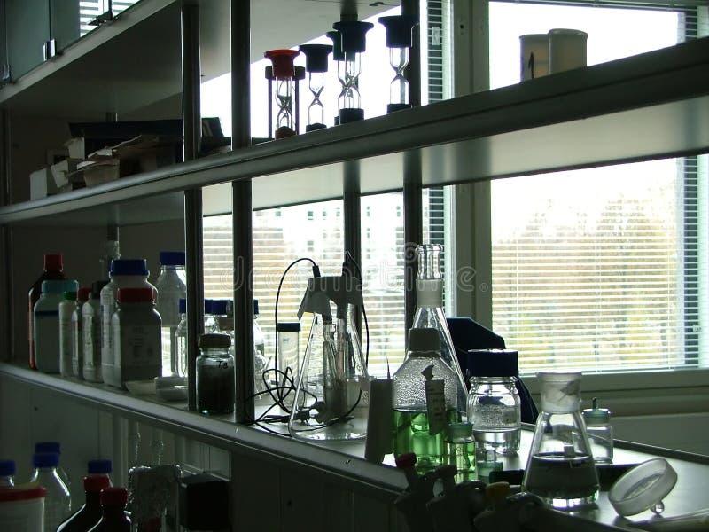 De planken van het laboratorium stock fotografie