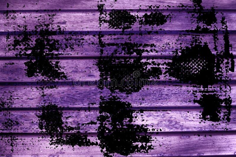 De planktextuur van de Grunge ultra purpere Houten bank voor website of mobiele apparaten, ontwerpelement royalty-vrije stock foto's