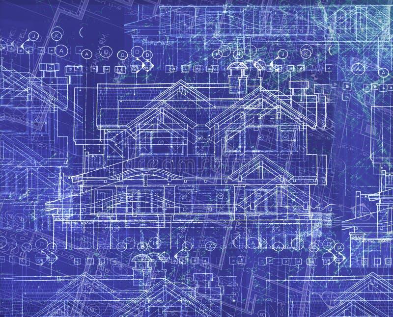 De plannen van Absrtact stock afbeeldingen