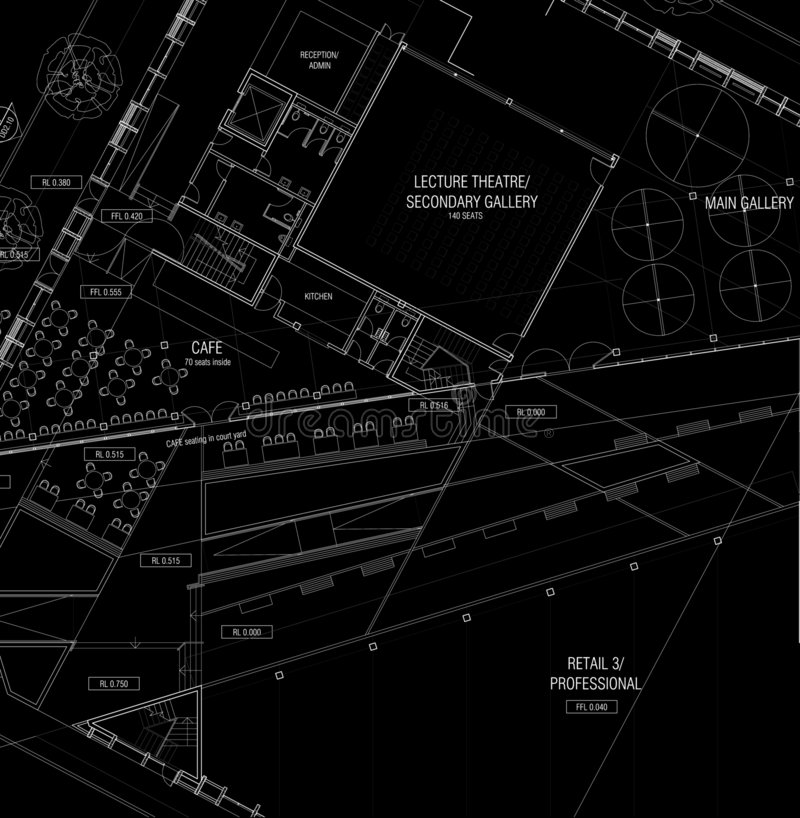 De Plannen van de architectuur vector illustratie