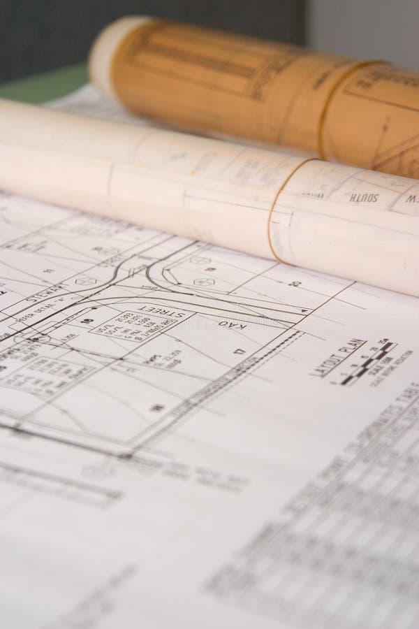 De Plannen van de bouw royalty-vrije stock afbeelding