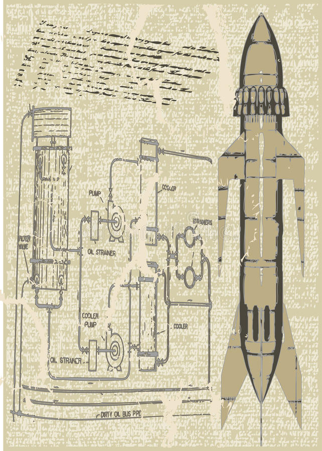 De Plannen van de raket vector illustratie
