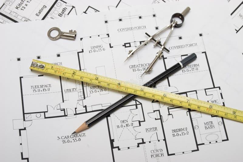 De planning van de architectuur royalty-vrije stock fotografie