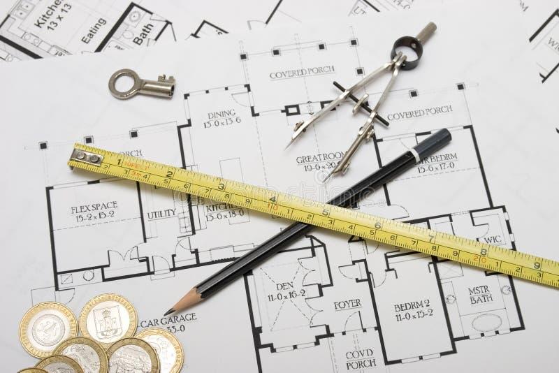 De planning van de architectuur royalty-vrije stock afbeeldingen