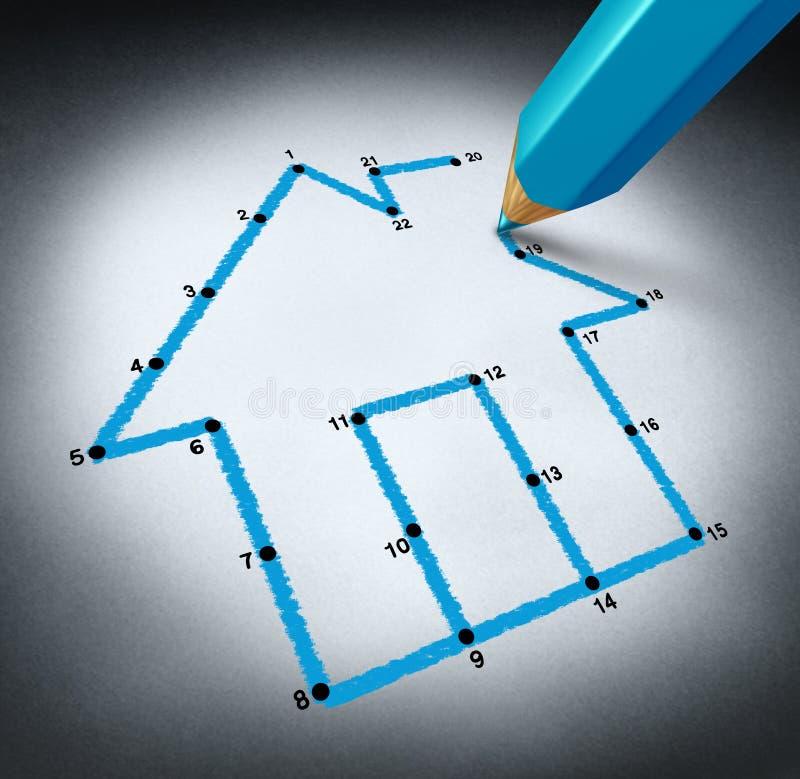 De planning van een Huis vector illustratie