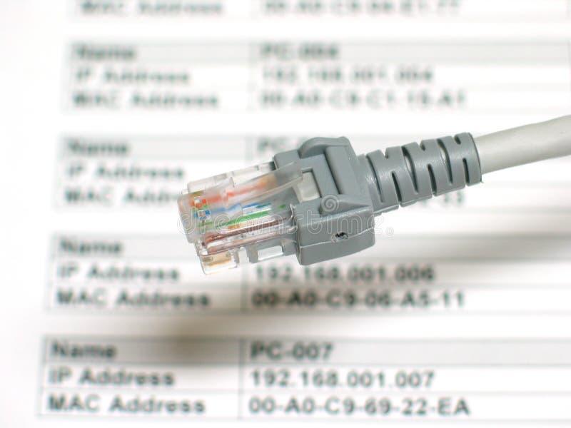 De planning van een netwerk stock fotografie