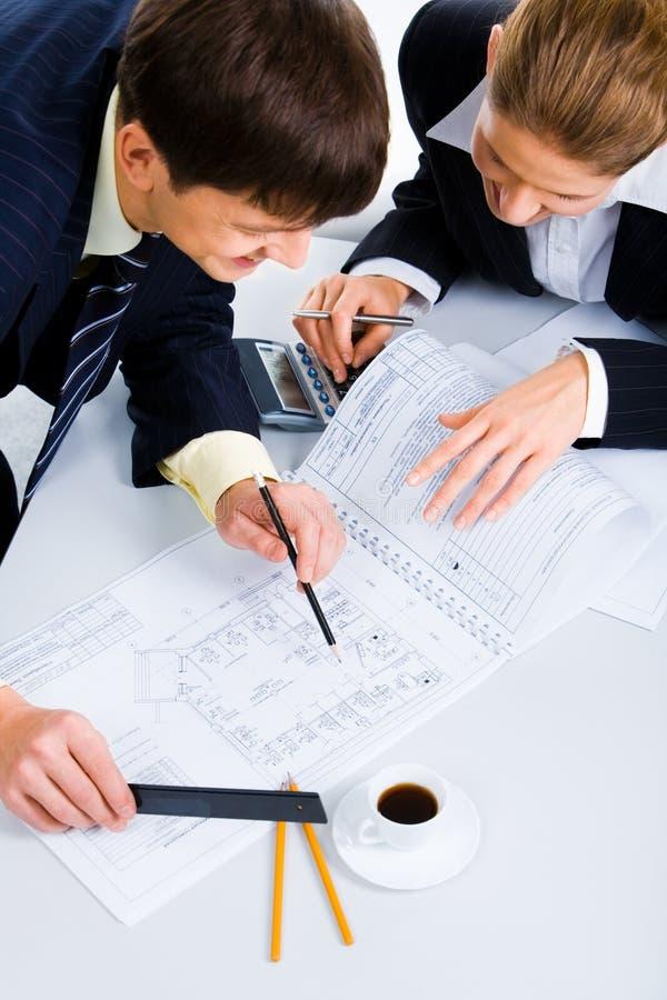 De planning van een nieuw project stock foto's