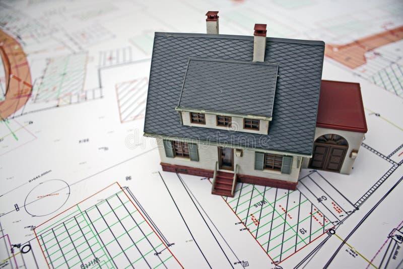 De planning van het huis royalty-vrije stock afbeeldingen