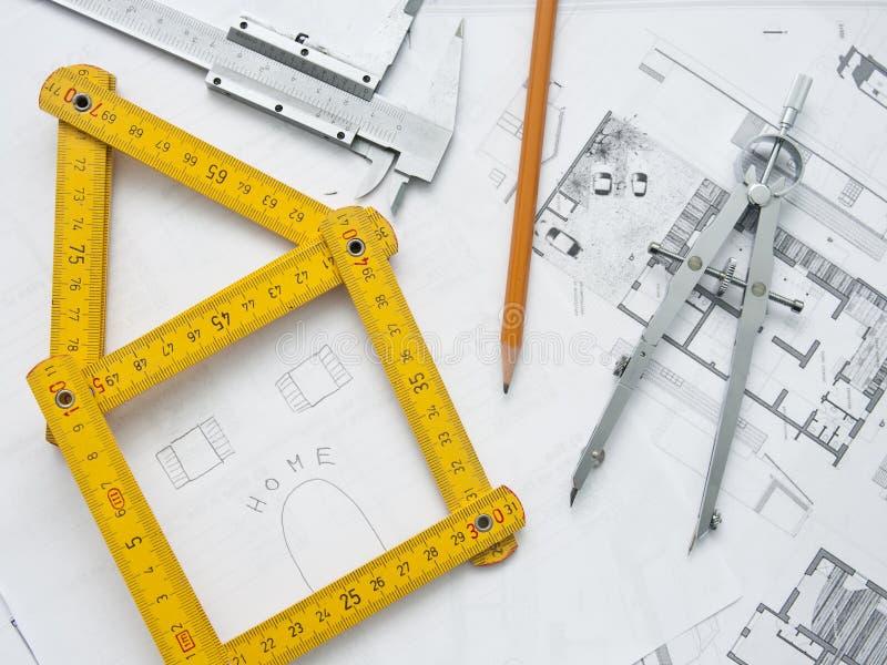 De planning van het huis stock fotografie