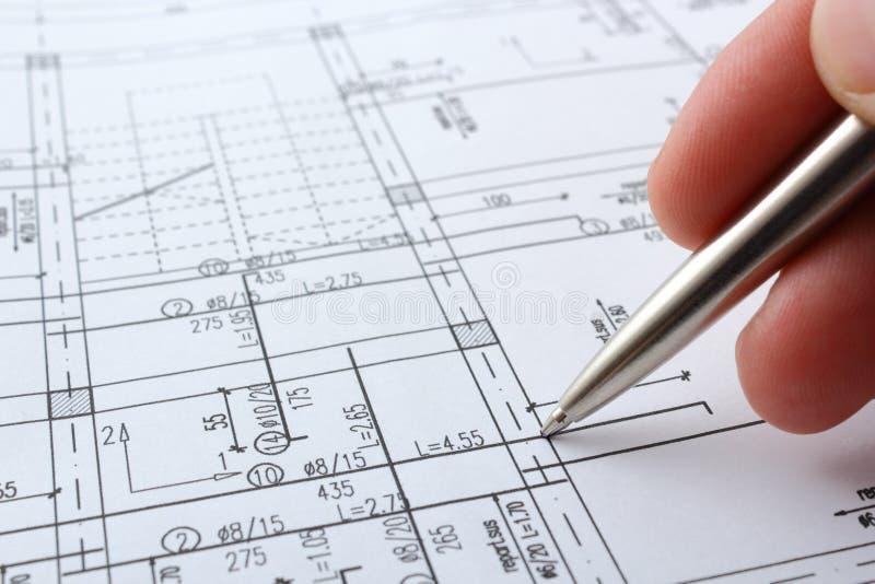 De planning van het huis stock foto's