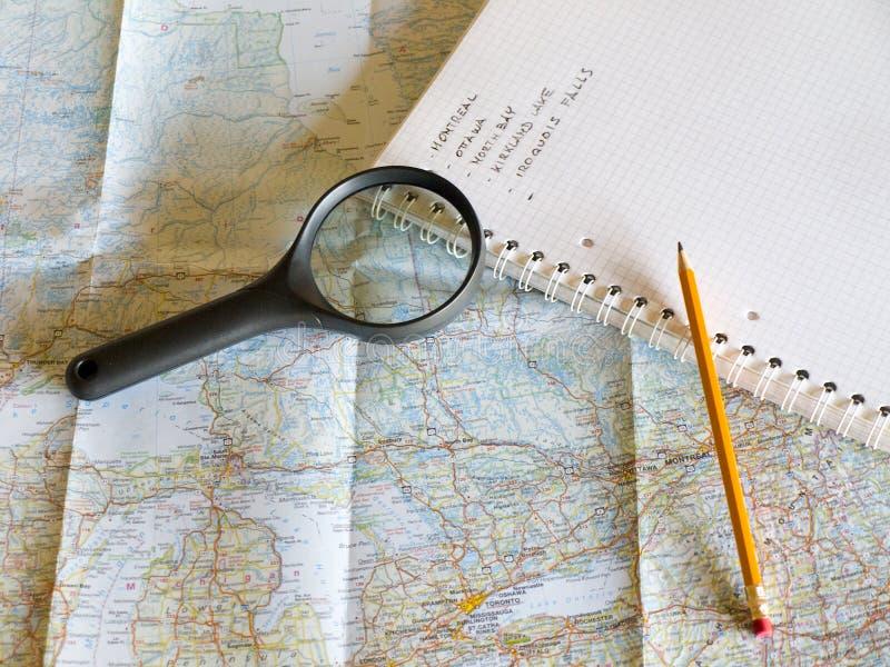 De planning van mijn reis stock foto's