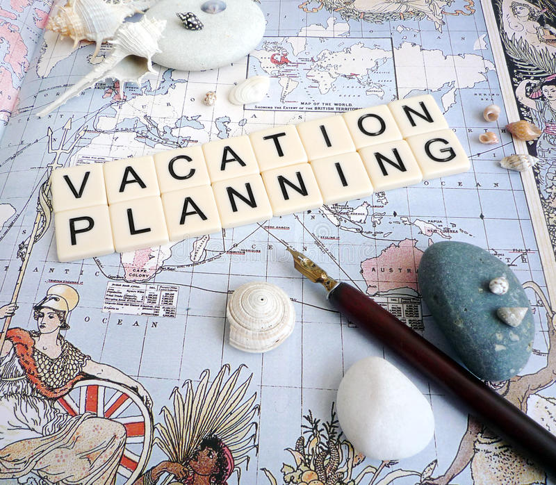 De planningsconcept van de vakantie royalty-vrije stock foto