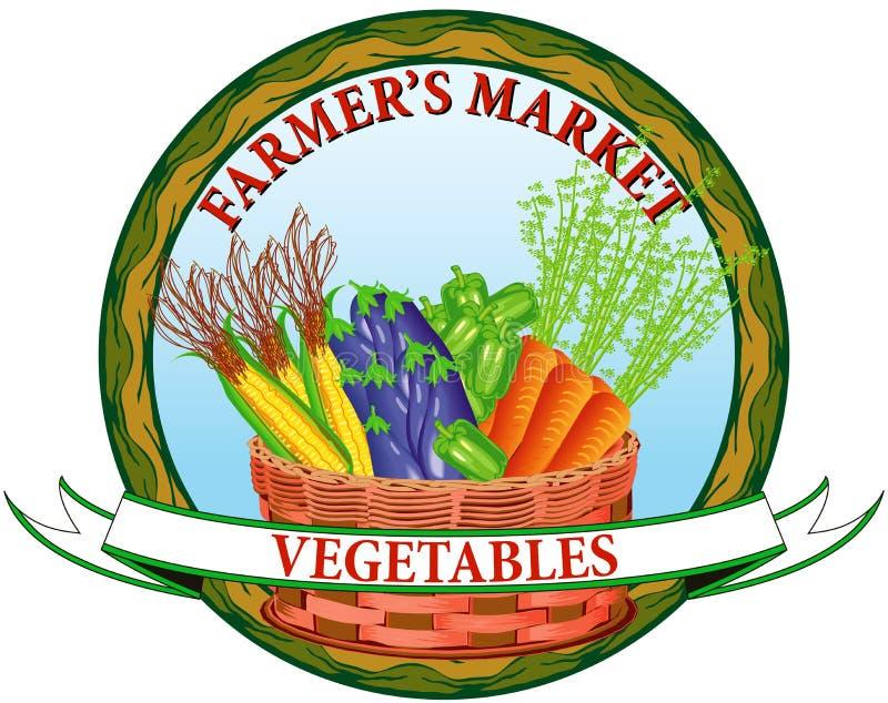 De plantaardige markt van de landbouwer vector illustratie