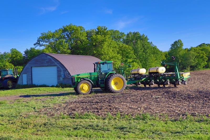 De Planter van John Deere Tractor en van het Graan royalty-vrije stock foto's