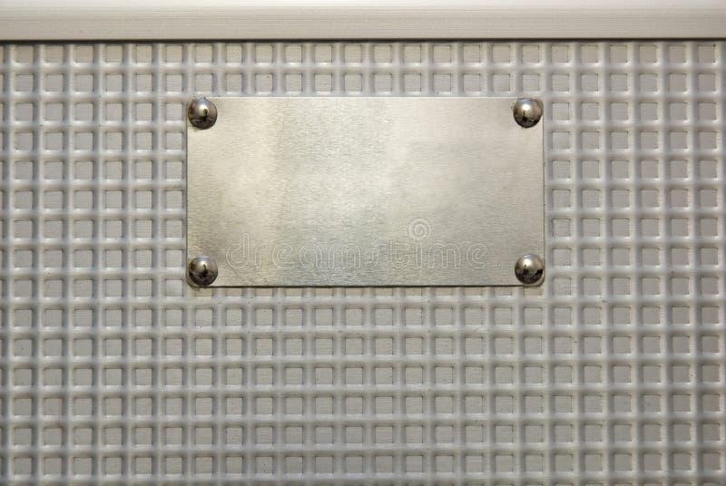 De plaque métallique photos libres de droits