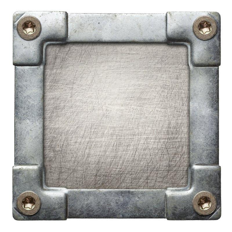De plaque métallique photo stock