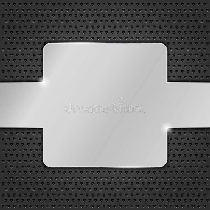 De plaque métallique illustration libre de droits