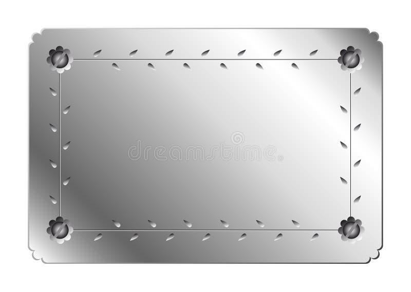 De plaque métallique illustration stock