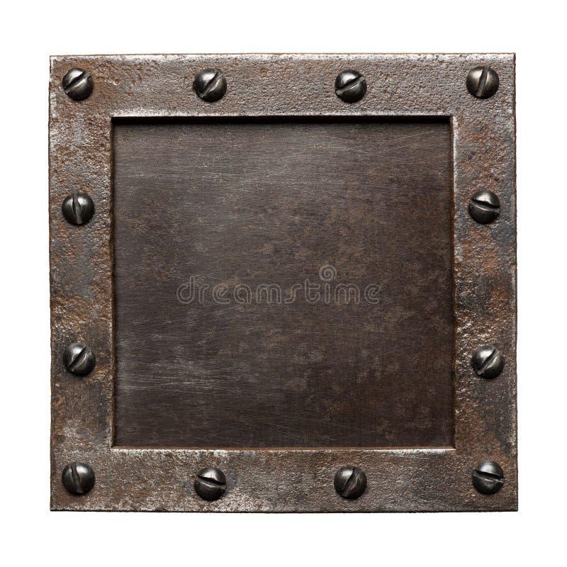 Download De plaque métallique image stock. Image du partie, endommagé - 56480383