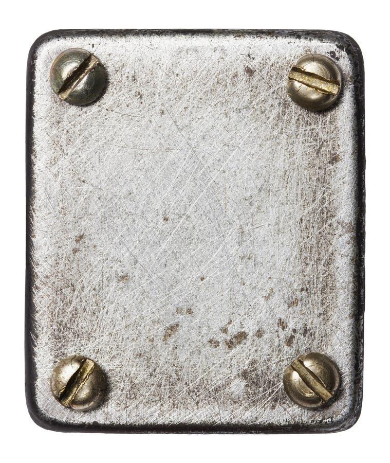 Download De plaque métallique photo stock. Image du industriel - 56481338