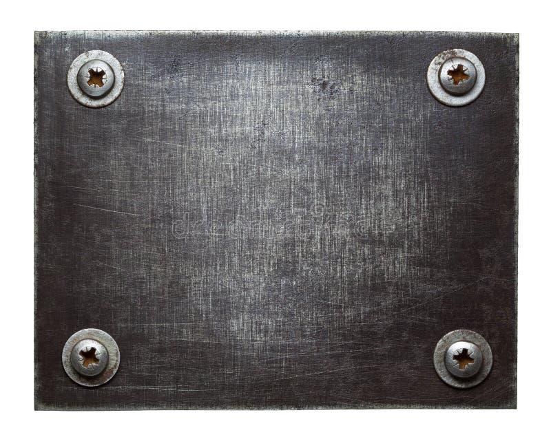 Download De plaque métallique photo stock. Image du grunge, conception - 56481886