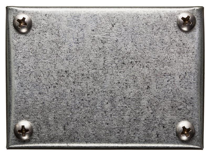 Download De plaque métallique photo stock. Image du rouillé, pignon - 56483390